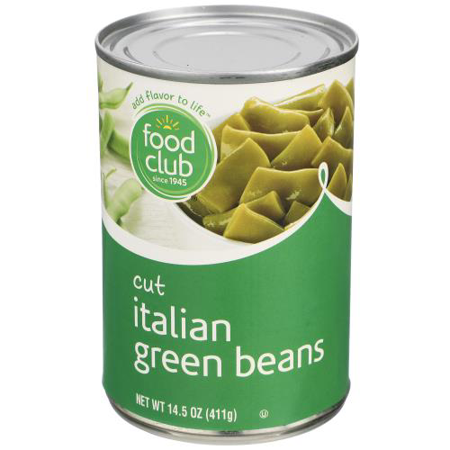 Food Club, Cut Green Italian Beans