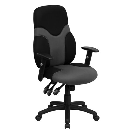 Surprising Flash Furniture High Back Ergonomic Black And Gray Mesh Swivel Task Office Chair With Adjustable Arms Home Interior And Landscaping Transignezvosmurscom