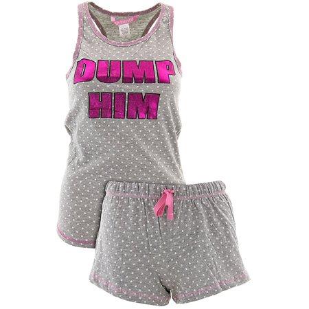 Love Loungewear Juniors Dump Him Shorty Pajamas