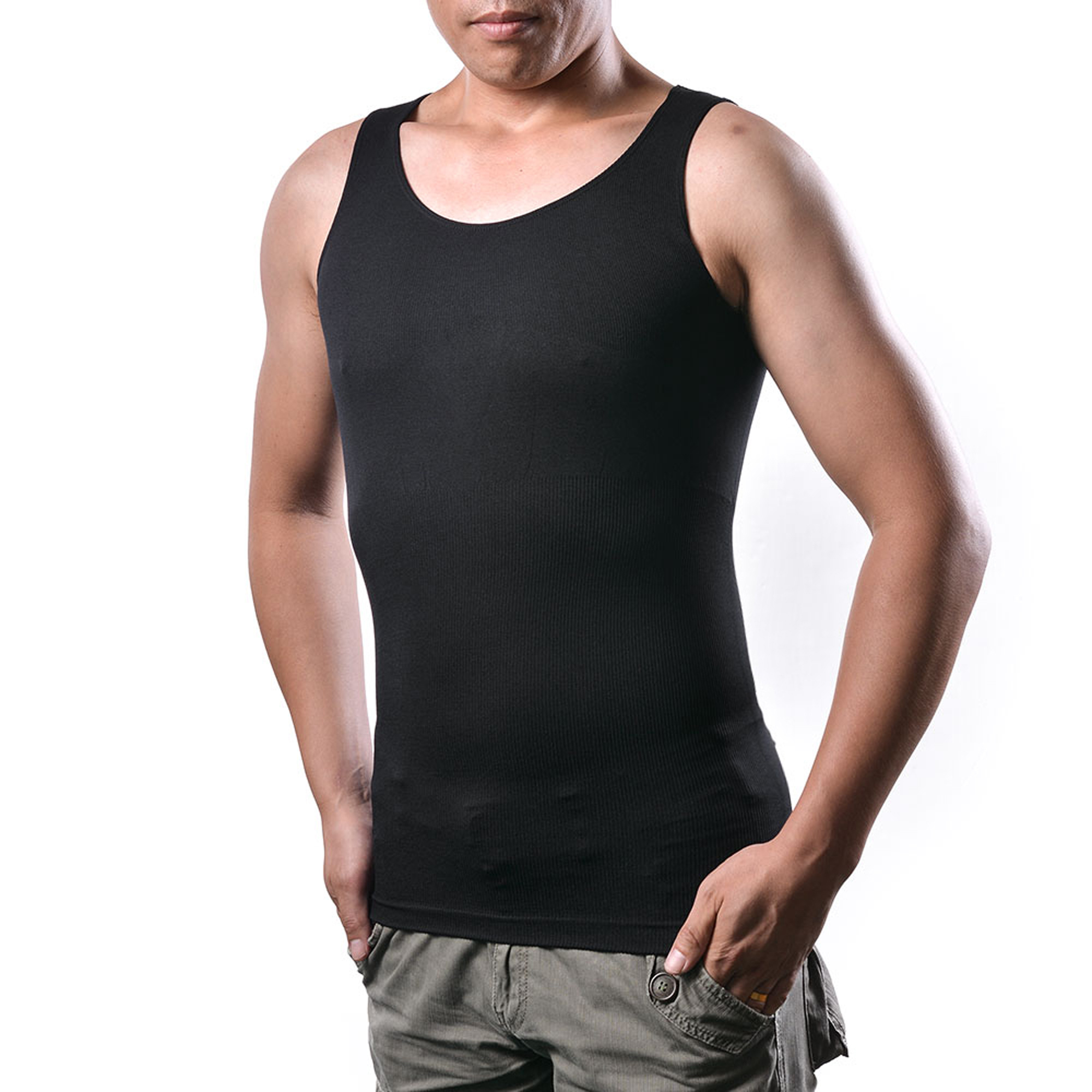 Men's Body Shaper For Men Slimming Vest Tummy Waist Lose Weight Compression Shirt Size: XL