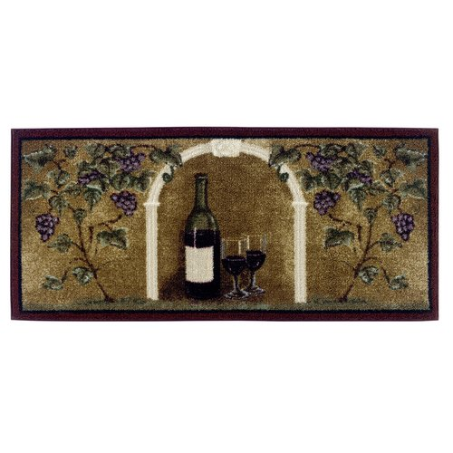Fleur De Lis Living Allgood Wine Kitchen Brown Area Rug