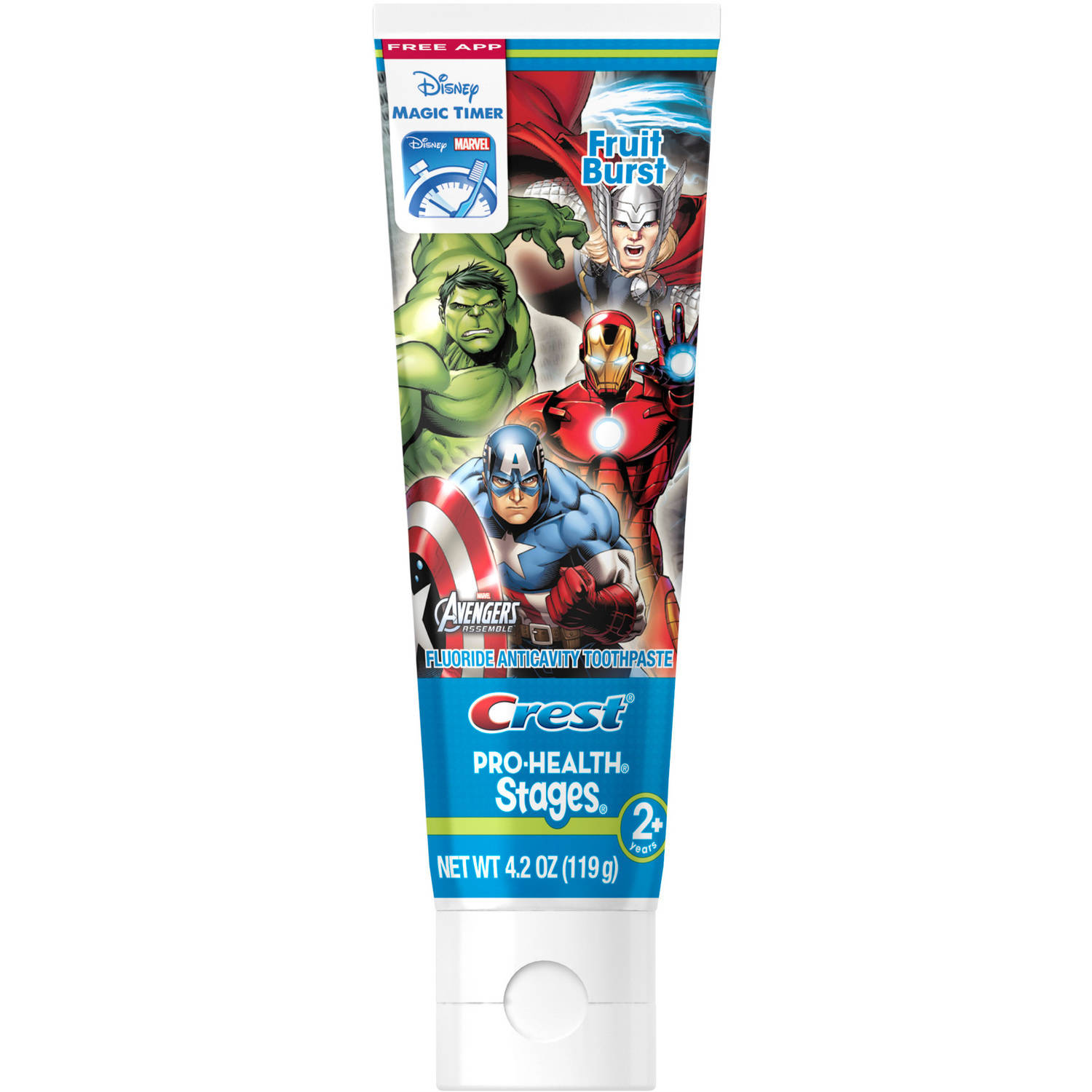 Crest Pro-Health Stages 2+ Marvel Avengers Assemble Fruit Burst Toothpaste, 4.2 oz