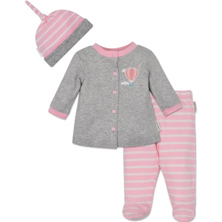 Cherokee Baby Girls' Jacket Footed Pants and Cap Set - Hot Air Balloon, 6-9 - Hot Girls With Clothes On