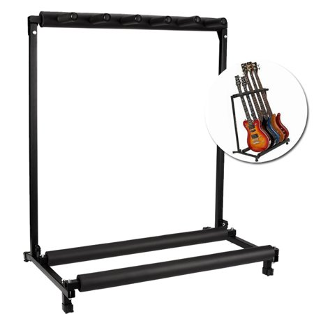 5 Guitar Stand Folding Rack Storage Organizer Electric Acoustic Guitar Stand Holder