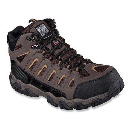 Skechers Men's Work Blais Bixford Steel Toe Boot,Dark Brown,US 7 M