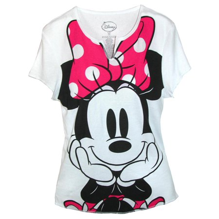 Women's Minnie Mouse Tee Shirt Top,  White](Minnie Mouse Skirt)
