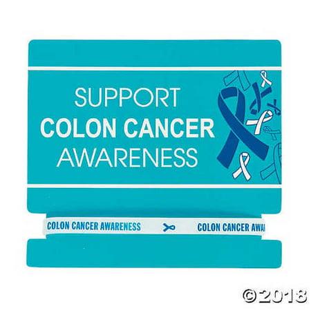 Fun Express Colon Cancer Awareness Rubber Bracelets On Card Walmart Com Walmart Com