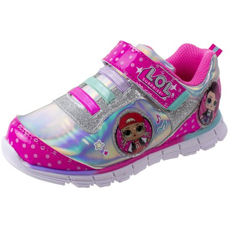 L.O.L Surprise Girls Sneakers, Light Up Athletic Sneaker, MC Swag and Rocker, Pink, (Shoes That Light Up On The Bottom Nike)