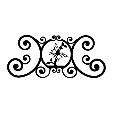 Village Wrought Iron HP-OD-38 Butterfly - Over Door Plaque