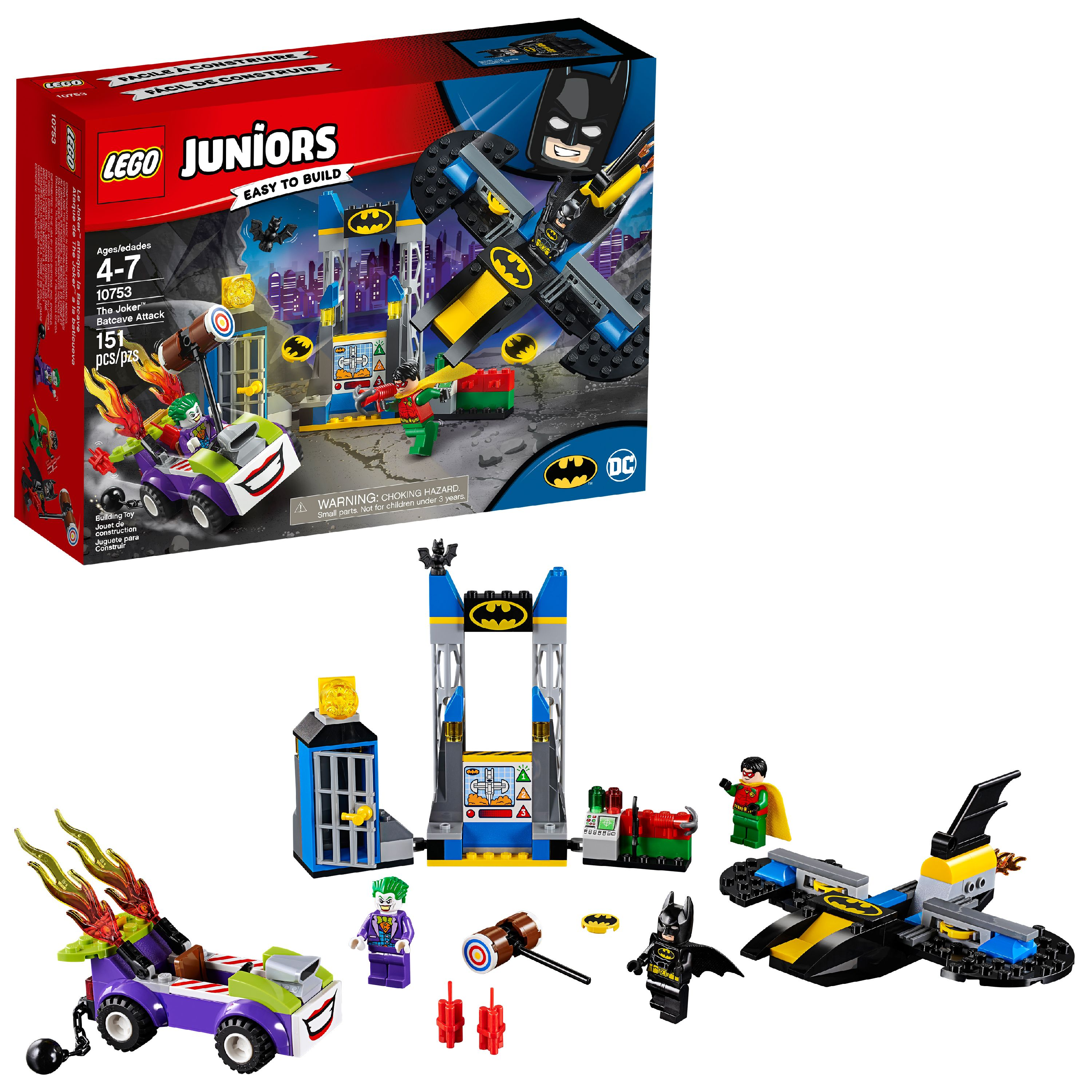 LEGO 4+ DC The Joker Batcave Attack 10753 Building Set