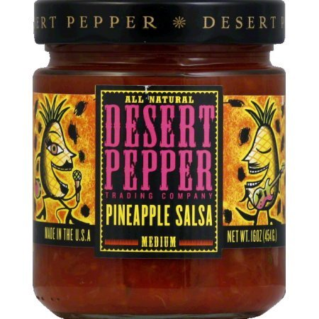 Desert Pepper Pineapple Salsa, Medium, 16 Oz