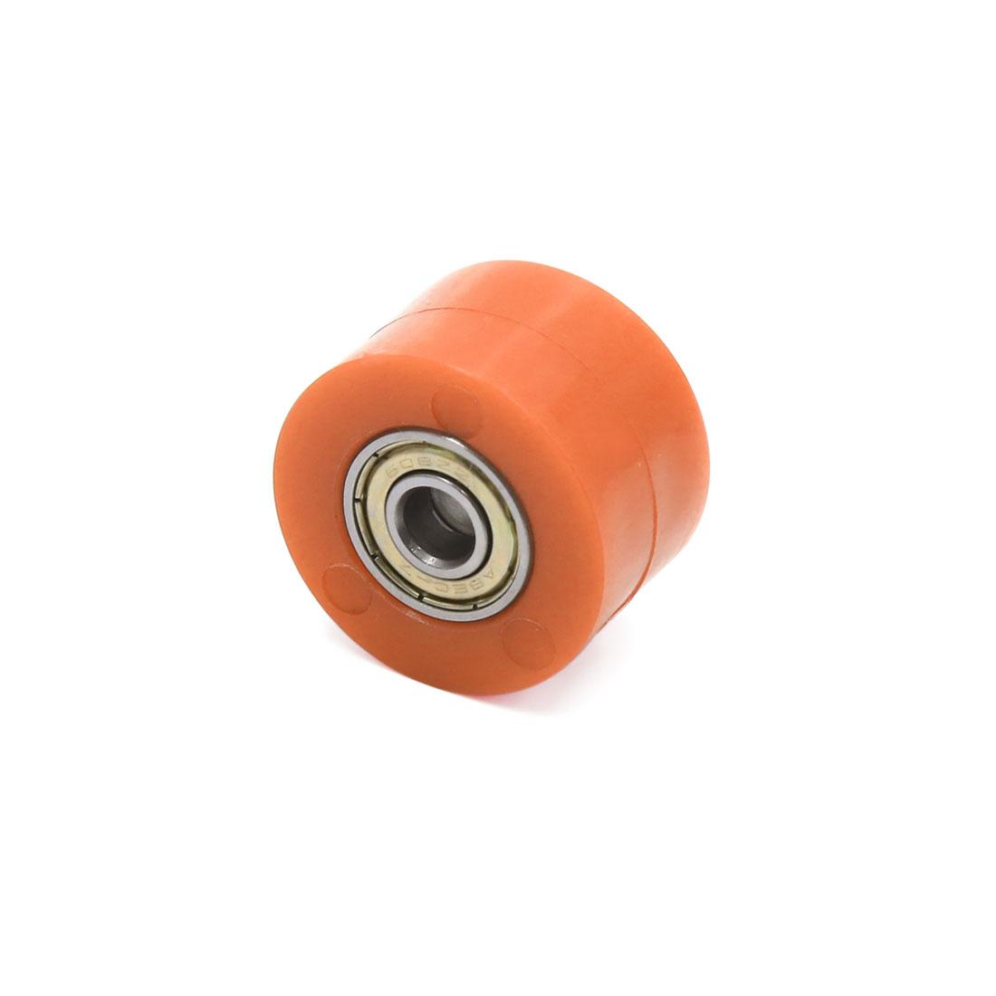 8mm Hole Chain Roller Tensioner Pulley Wheel Sprocket Orange for Motorcycle - image 2 de 3