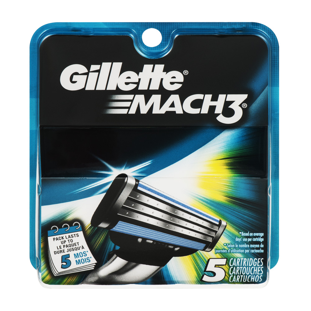 Gillette Mach 3 Cartridges - 5 CT