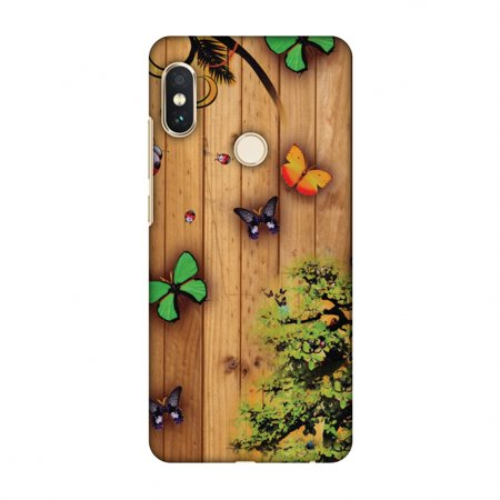 size 40 3aabf 4ffa3 Xiaomi Redmi Note 5 Pro Case - Bonsai Butterfly, Hard Plastic Back Cover,  Slim Profile Cute Printed Designer Snap on Case with Screen Cleaning Kit