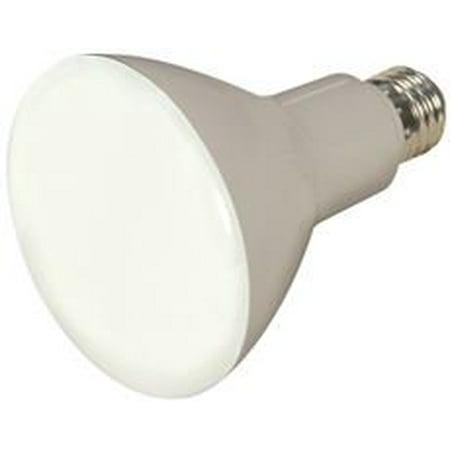 Satco Led Flood Lamp  Br30  9 5 Watt  3000K  80 Cri  Medium Base  120 Volts  Dimmable  Long Life  Fr