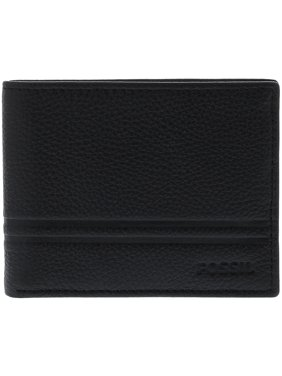 Fossil Men's Wilder Flip Id Bifold Leather Wallet - Black