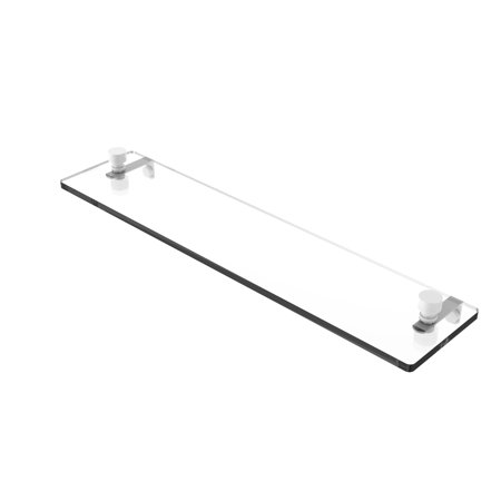 Foxtrot 22 Inch Glass Vanity Shelf with Beveled Edges