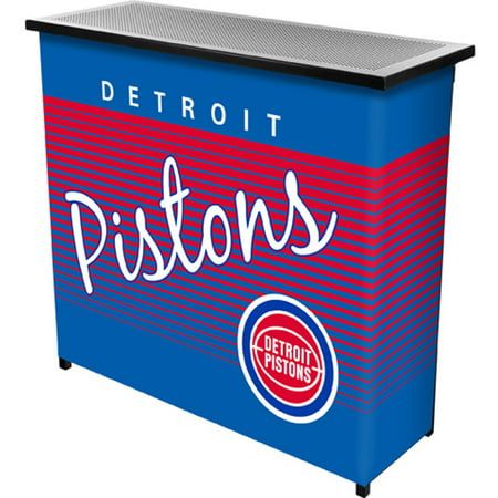 Detroit Pistons Hardwood Classics NBA Portable Bar with Carrying Case by