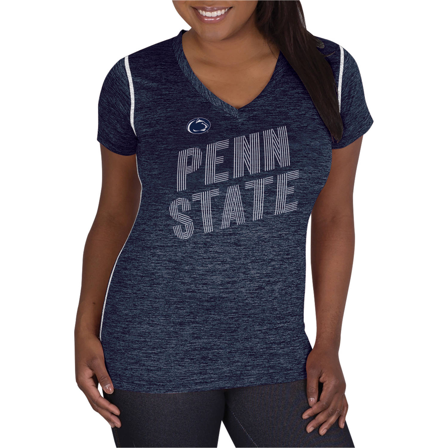 NCAA Penn State Nittany Lions Ladies Classic-Fit Synthetic V-Neck Tee