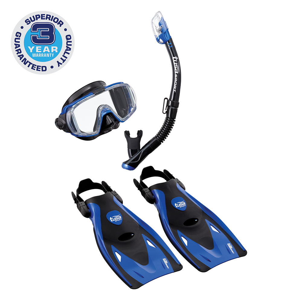 TUSA Sport Adult Visio Tri-Ex Mask Series Travel Swimming Set