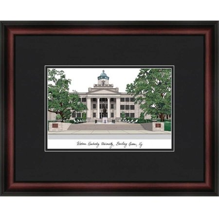 Western Kentucky University Academic Framed Lithograph - Western Frame