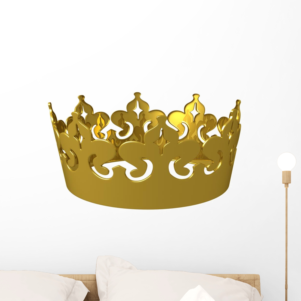Kings Gold Crown Wall Decal by Wallmonkeys Peel and Stick Graphic ...