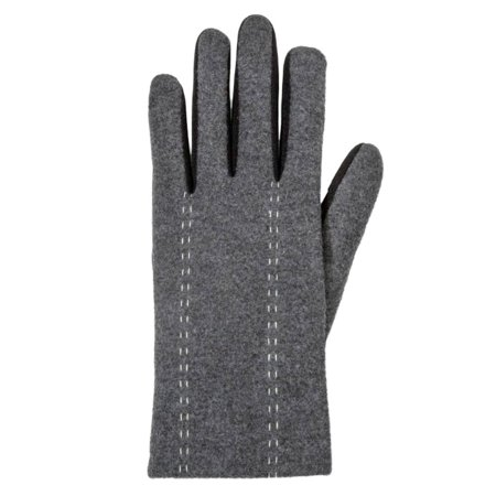 Isotoner Womens Spandex Gloves (Isotoner Smart Touch Womens Gray Stretch Stitch Smartouch Text & Tech Gloves )