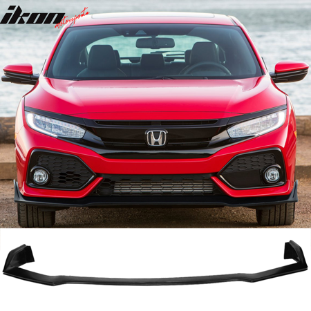 Fits 17-19 Honda Civic Si Hatchback 5Dr Style Front Bumper Lip (Honda Polyurethane Civic Bumper)