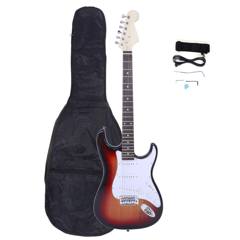 """Ktaxon 6 String 39"""" Style Electric Guitar With Gigbag + Cord + Strap 7-Color"""
