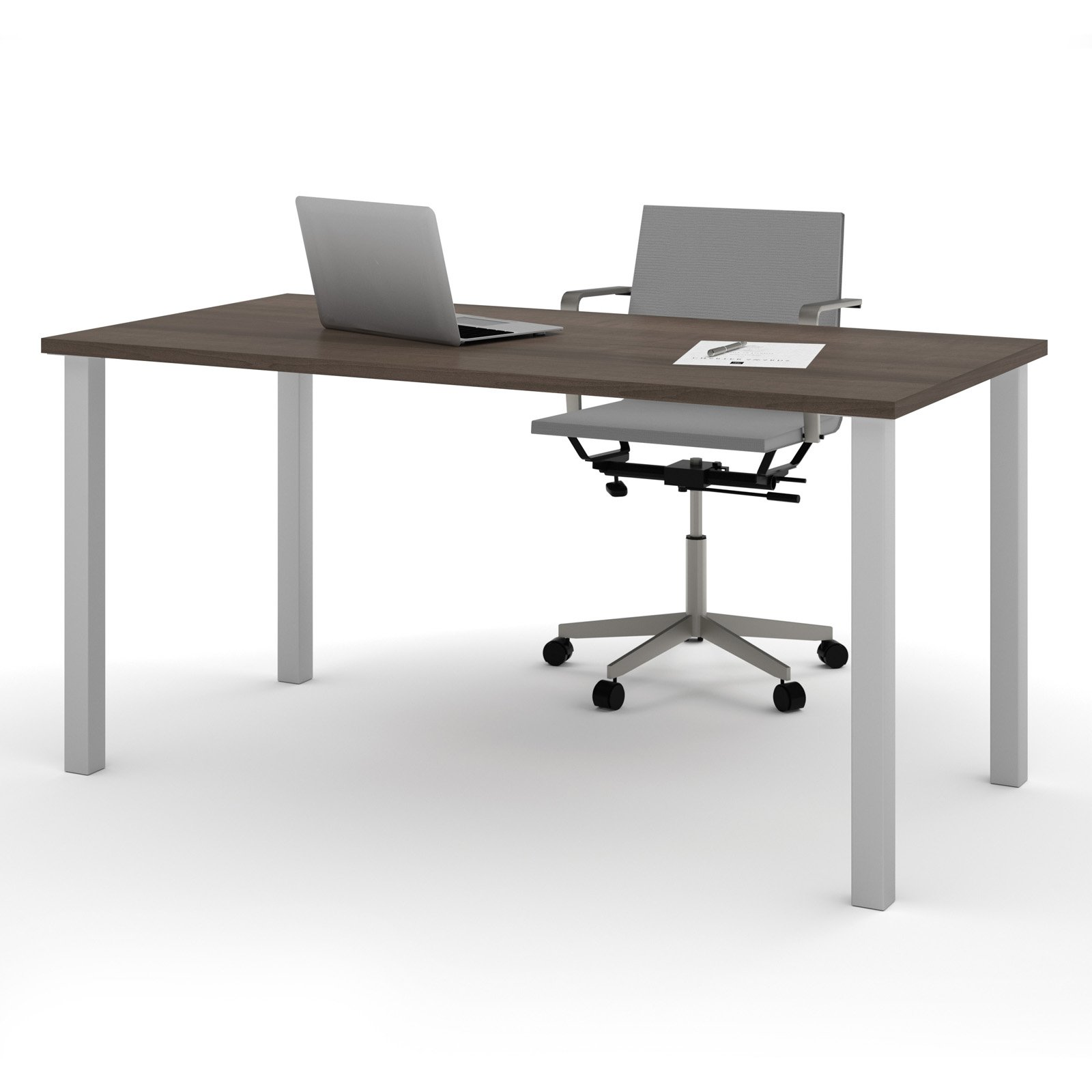"""Bestar 30"""" x 60"""" Table with square metal legs in Antigua by Bestar"""