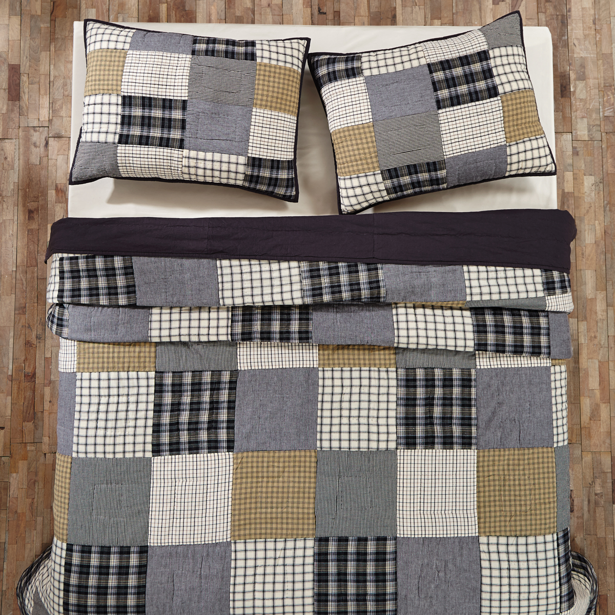 Ethan Lodge Block 6Pc King Queen Quilt Set