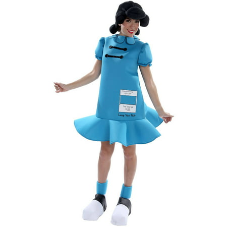 Peanuts: Lucy Deluxe Women's Adult Halloween Costume - Peanuts Lucy Costume