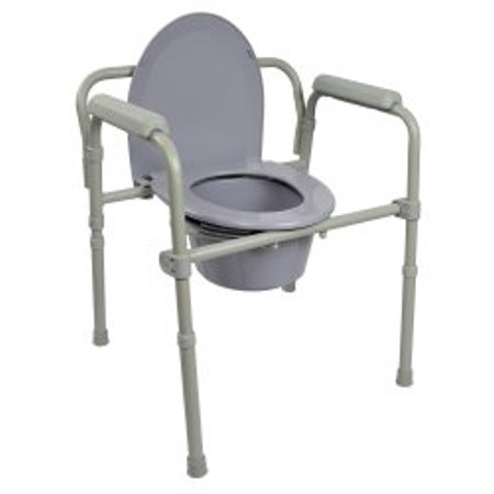 Remarkable Folding Commode Chair Mckesson Fixed Arm Steel Frame Back Bar 16 3 5 To 22 1 2 Inch Height Each 1 Bralicious Painted Fabric Chair Ideas Braliciousco