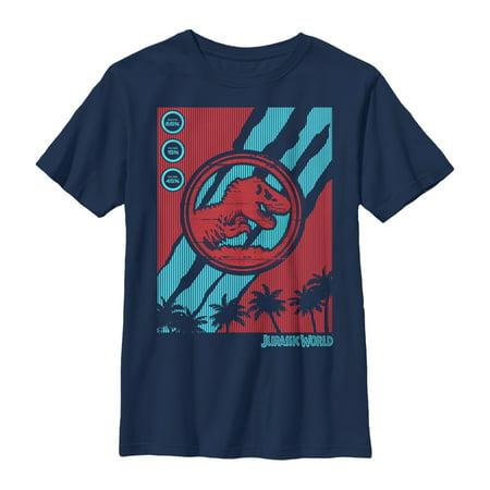Jurassic World: Fallen Kingdom Boys' Fallen Kingdom T. Rex Logo Streaks T-Shirt](Boys Kingdom)