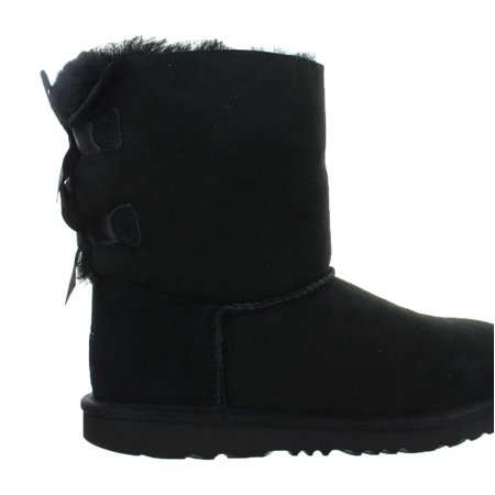 Kids UGG Bailey Bow II Boot Black 1017394K-BLK (Best Place To Get Ugg Boots)