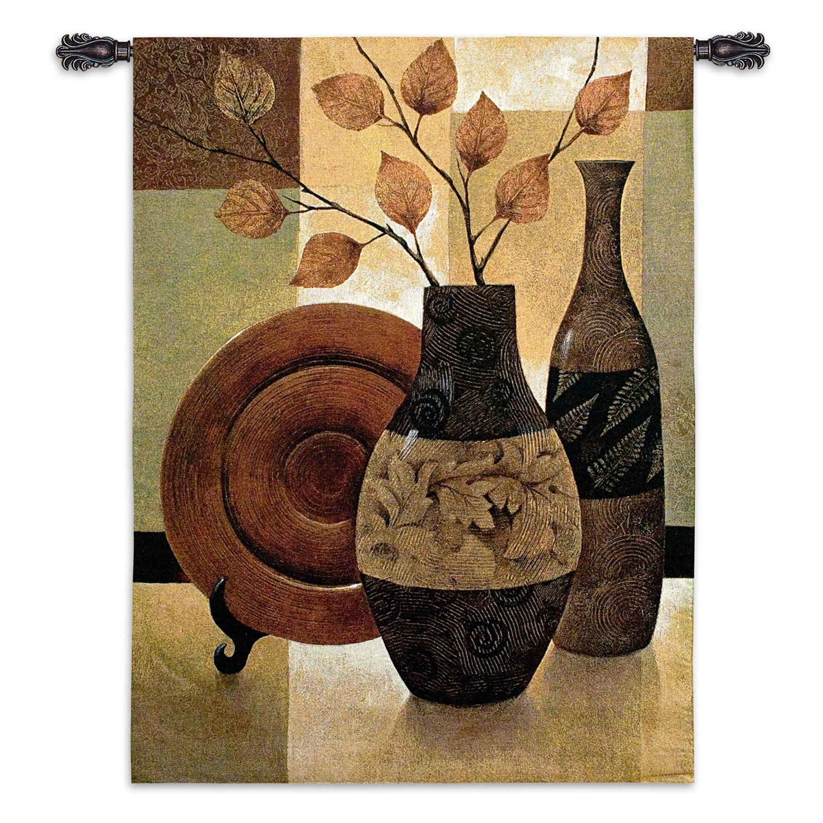 FineArtTapestries 3229-WH Natures Patchwork I Wall Tapestry by Supplier Generic
