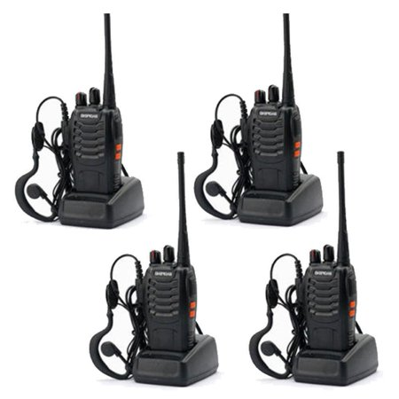 Ktaxon Lot 4 Baofeng BF-888S Long Range Walkie Talkie 400-470MHZ Two-Way Radio