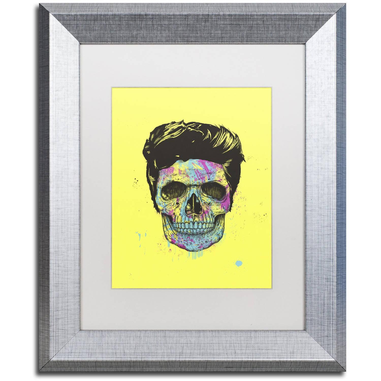 Trademark Fine Art Color Your Death Canvas Art By Balazs Solti White Matte Silver Frame Walmart Com Walmart Com
