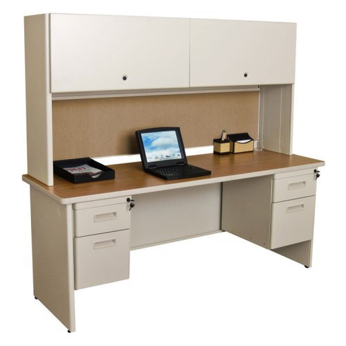 Marvel Pronto 72 in. Double File Desk Credenza Including Flipper Door Cabinet