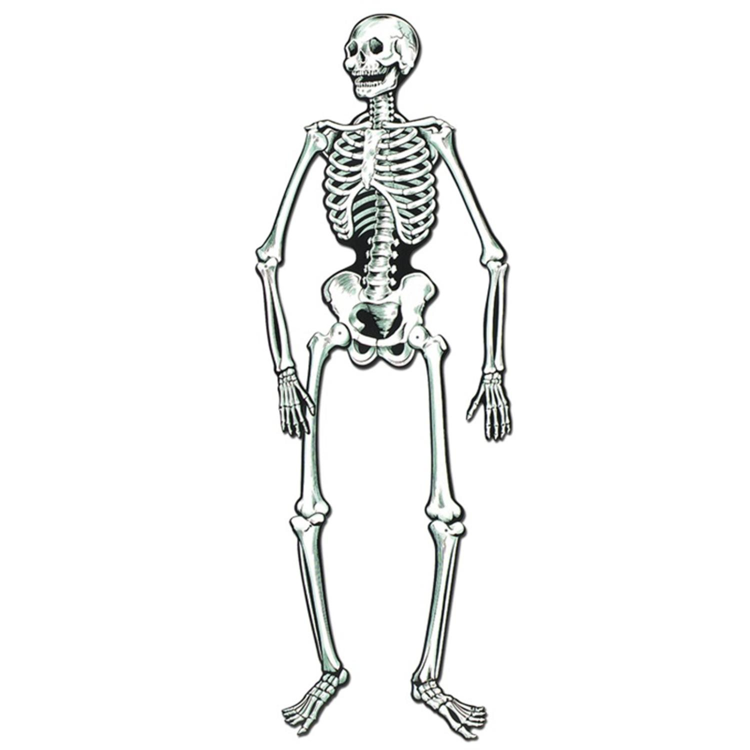 Club Pack of 12 Spooky Jointed Jolly Skeleton Halloween Decorations 4.5'