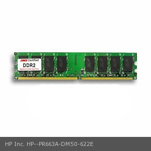HP Inc. PR663A equivalent 1GB eRAM Memory DDR2-400 (PC2-3200) 128x64 CL3  1.8v 240 Pin DIMM - DMS