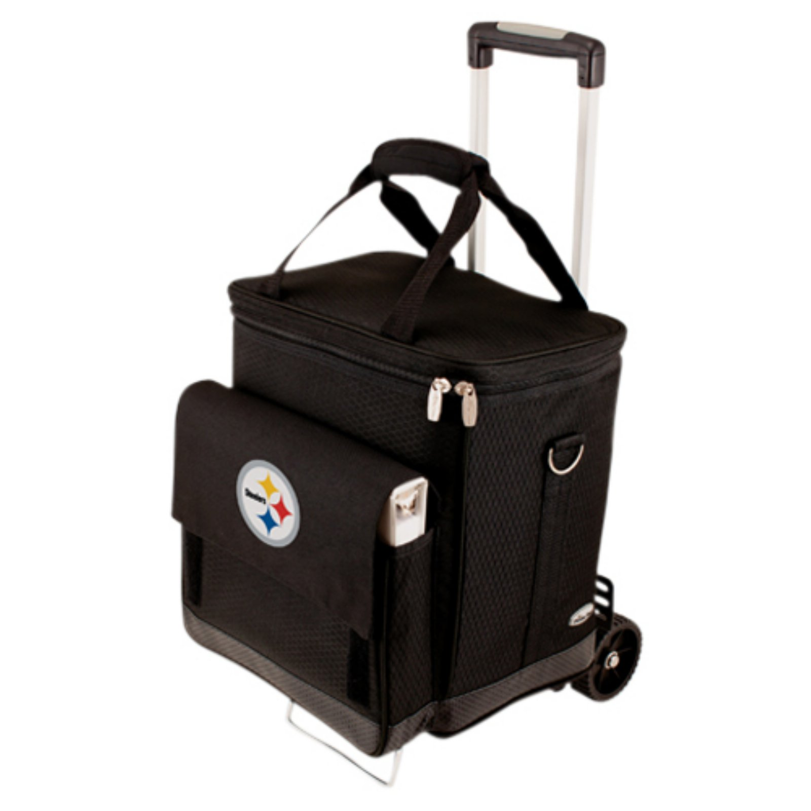 Picnic Time Cellar with Trolley, Black Pittsburgh Steelers Digital Print