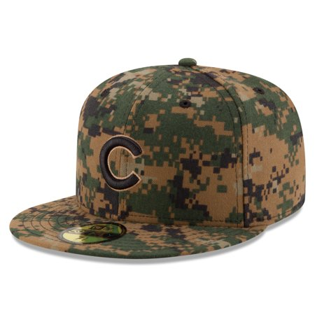 Chicago Cubs New Era 2016 Memorial Day 59FIFTY Fitted Hat - Digital Camo