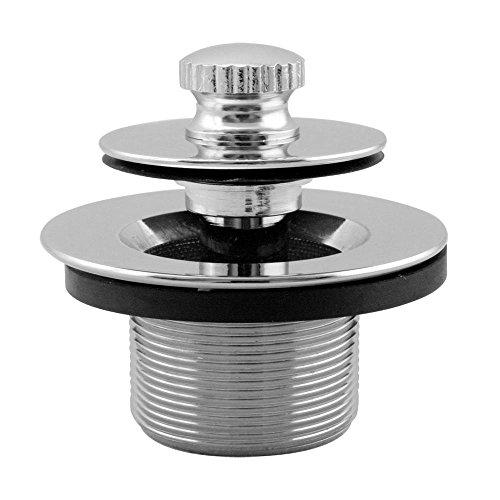 Westbrass 79438CP-F 1. 375 inch NPSM Fine Thread Twist-and-Close Bath Drain Plug in Chrome
