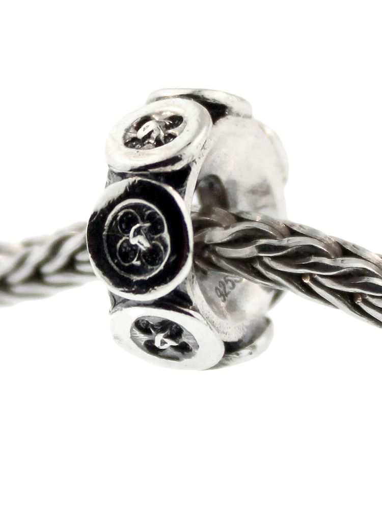 1 Authentic Trollbeads Sterling Silver 11508 Large Berry
