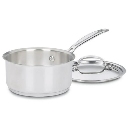 Cuisinart Chef'S Classic Stainless Steel 1 Qt. Saucepan W/Cover 1 Quart Souffle