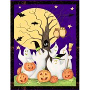 "Halloween Ghost Story, Purple, 43/44"" Wide, Fabric by the Yard"