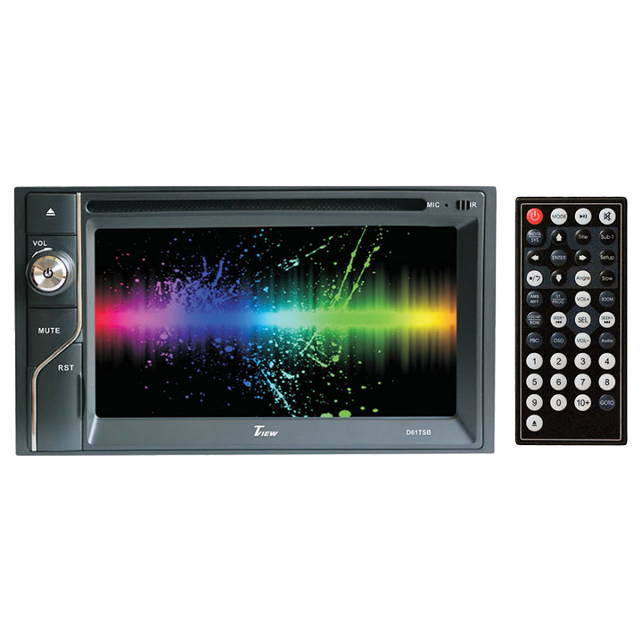 "TVIEW 6.1"" DOUBLE DIN TOUCHSCREEN  W/DVD BLUETOOTH AM/FM  4 X45 WATTS"