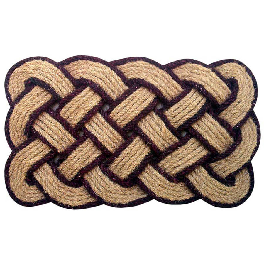 Lovers Knot Mat, Brown/Natural