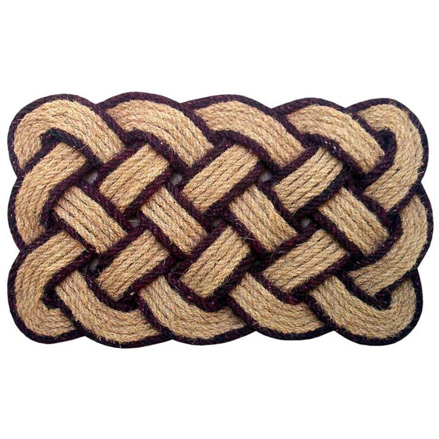 Lovers Knot Mat, Brown/Natural